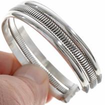 Navajo Handmade Silver Bracelet 27798