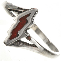 Coral Lightning Bolt Ring 28820