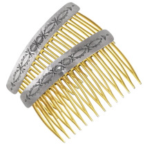 Navajo Silver Hair Combs 19653