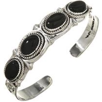 Black Onyx Silver Navajo Bracelet 29420