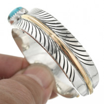 Native American Gold Silver Feather Bracelet 29491