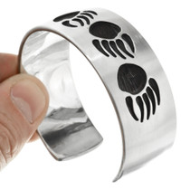 Overlaid Silver Navajo Cuff Bracelet 28248