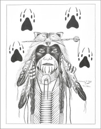 Native American Warrior Art Print 21117
