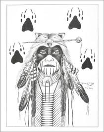 Native American Warrior Art Print 21117