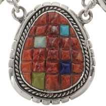 Native American Turquoise Opal Necklace 27905
