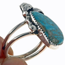 Ladies Turquoise Silver Ring 24948