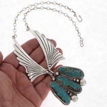 Navajo Turquoise Silver Necklace 20981