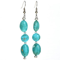 Turquoise Indian Drop Earrings 29033