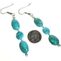 Natural Kingman Turquoise Earrings 29033