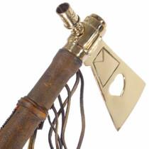 Brass Heart Tomahawk Peace Pipe 12269