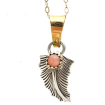 Pink Shell Feather Southwest Pendant 14243