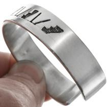 Hopi Pattern Silver Bracelet 26292