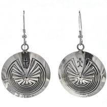 Man in the Maze Native Earrings 29281