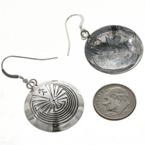Overlaid Silver Traditional Earrings 29281