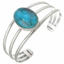 Blue Turquoise Silver Bracelet 26198