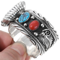 Coral Turquoise Navajo Watch 24428