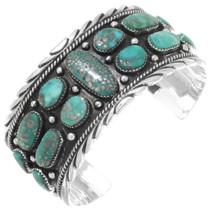 Turquoise Mens Silver Bracelet 27439