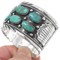 Sterling Silver Genuine Turquoise Cuff 27439
