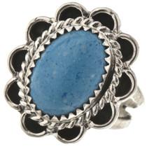 Denim Lapis Silver Ladies Ring 28610