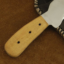 Steel and  Wood Skinner Knife by Wild Bill