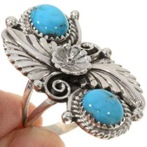 Turquoise Silver Ladies Ring 27636