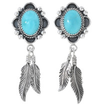 Navajo Kingman Turquoise Earrings 27282