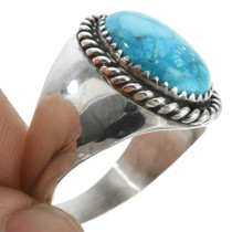 Big Boy Turquoise Silver Ring 22834