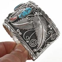 Big Boy Coral Sterling Bracelet 28890