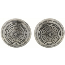 Southwest Silver Concho Cuff Links 24405