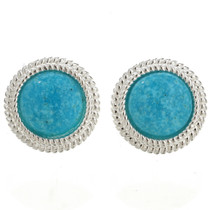 Navajo Blue Turquoise Earrings 26311
