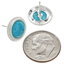 Southwest Turquoise Silver Post Earrings 26311