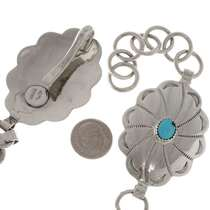 Southwest silver Link Concho Belt 15236