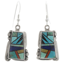 Turquoise Lapis Opal Earrings 27051