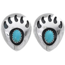 Turquoise Bear Paw Earrings 23918