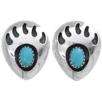 Turquoise Bear Paw Earrings 23918