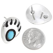 Turquoise Silver Earrings 23918