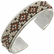 Navajo Sterling Beaded Cuff 26848
