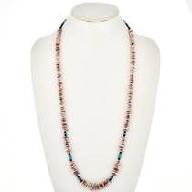 Native American Spiny Oyster Turquoise Necklace 29488
