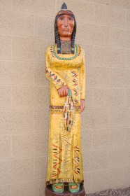 Yellow Corn Maiden Wooden Store Indian 33973