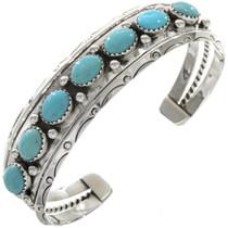 Navajo Turquoise Silver Bracelet 23332