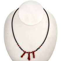 Red Branch Coral Silver Choker 29493