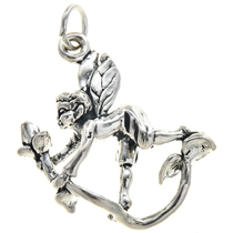 Sterling Silver Pixie Elf Charm 35423
