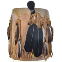 Indian Rawhide Feather Pow Wow Drum 0027