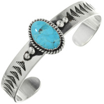 Navajo Turquoise Silver Cuff 23482