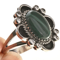 Native american Ladies Malachite Ring 28684