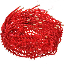 4mm and 12mm Red Pearl Beads 16 inch Long Strand