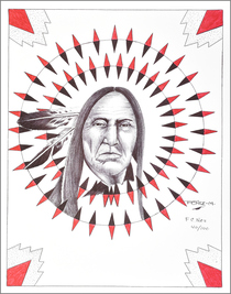 Native American Elder Print Southwest Art 17211