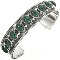 Malachite Silver Row Bracelet 29124