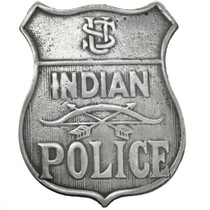 Silver US Indian Police Badge 29195