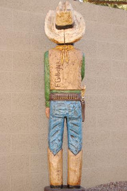 Cigar Store Blue Eyed Bandito Six Feet Tall by Frank Gallagher 2913